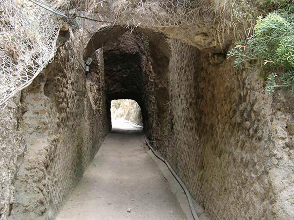 Ponza tunnel di Chiaia di Luna opus reticulatum Immersioni a Ponza con Oceania